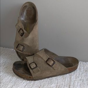 Birkenstock Zurich Brown Tan Leather Sandals 39